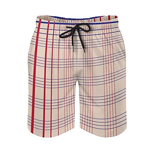 Pealrich Bañador para hombre de secado rápido con bolsillos de forro de malla, trajes de baño