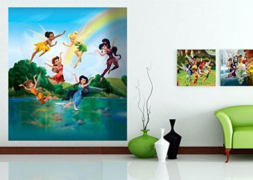 AG Design FTDxl 1930 Disney Fairies Feen, Papier Fototapete Kinderzimmer- 180x202 cm - 2 teile, Papier, multicolor, 0,1 x 180 x 202 cm