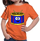 Hariz - Camiseta de manga corta para niña (incluye tarjeta de regalo) naranja 128