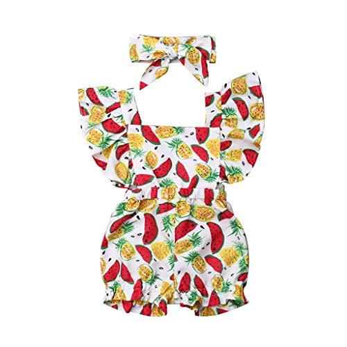 Julhold - Pelele de piña de algodón para bebé (0-3 años)