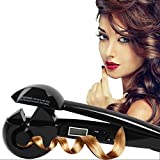 Guiffee JL-608 Professional Hair Curler Automatic Curling Iron Machine with Heat Ready Indicator LCD Display, Replaces The Need for Curling Tongs, No scald Worry, No More Messing Around for Hours with Curling Tongs