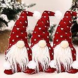 Coospy Gnomo di Natale Decorazioni Natalizie,3 Pezzi 30cm Regali Nani Scandinavi di Giocattoli Fatti a Mano, Ornamenti per Anziani della Foresta, Decorazioni Natalizie per Famiglie