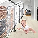 XiYee Malla De Seguridad para Escaleras, 3 Metros Red de Seguridad para Balcones, Red de Seguridad para Niños, Redes De Protección de Las Escaleras Balcón, Malla Tejida para Escaleras (White-N)