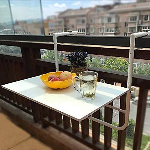 Klapptisch Balkon Hänge Tisch,Balkonhängetisch Klappbar,Balkon-Hängetisch Faltbar Computerständer Freizeit Tisch Blumenständer An Der Wand, 60 * 40cm