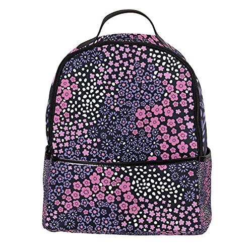 KAMEARI Zaino Piccolo Rosa Fiore Casual Daypack per Viaggi con Tasche Laterali Bottiglia