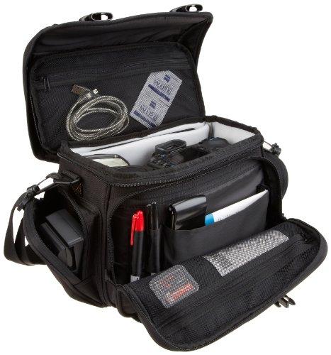 Amazon Basics - Bolsa para cámaras DSLR, color negro