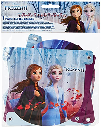 Procos, Folat - Ghirlanda con lettere Frozen 2 'Happy Birthday' - 2 metri