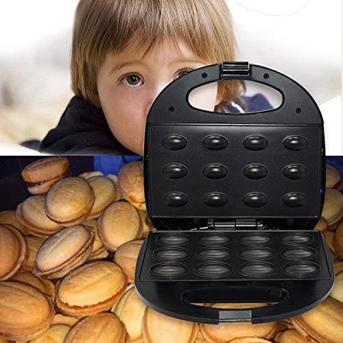 Nussbäcker Waffeleisen/Backautomat/Zaubernuss Waffeleisen für Nuss Premium Durable Bakelit Fall Edelstahl Bratpfanne Kühler zum Frühstück