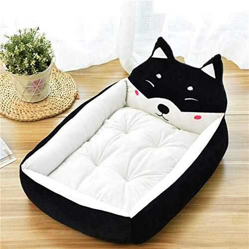 Pet Bed Cartoon Pet Bed Soft Kennel Winter Warm Pet Supplies House For Cat Mat Bed For Small Medium Large Dog Thicken Lounger Sofa,1,L