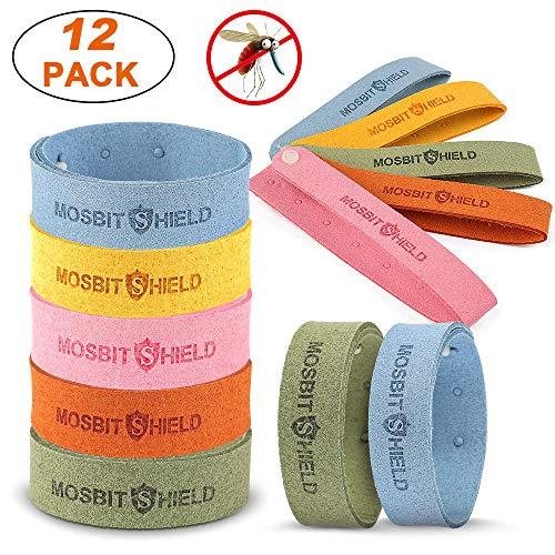 12 Stück Mückenschutz Armband, Pflanzlichen Öl Einstellbare Armband Verstellbar für Erwachsene und Kinder, Perfekt für Camping, Wandern, Reisen