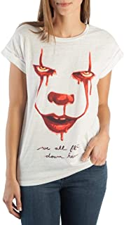 IT We All Float Down Here Rolled Sleeve T-Shirt For Women