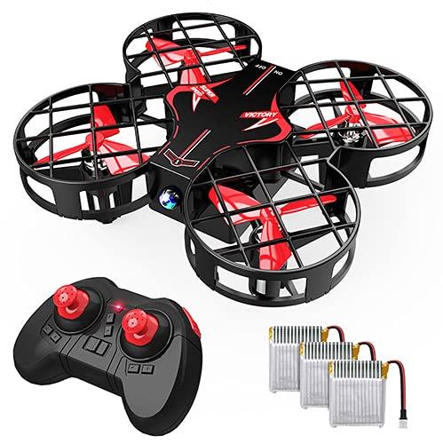 H823H Plus Mini Drone para Niños, Dron con 3 Baterías, 21 Minutos de Tiempo de Vuelo - Mini Helicóptero Quadcopter por Control Remoto