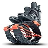 KangooJumps Kangoo Jumps Equipado con Fuertes Shell y un Muelle de tracción Pro-7. Este Modelo es Adecuado para Atletas Extremos y usuarios con Peso Superior a 200 Libras. Unisex, Negro Naranja y XL.