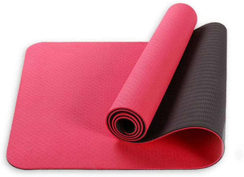 Fitness Yoga Mat-All-Purpose Extra Dicke High Density Anti-Tear übung Yoga Mat mit Carwing-Burt,rot