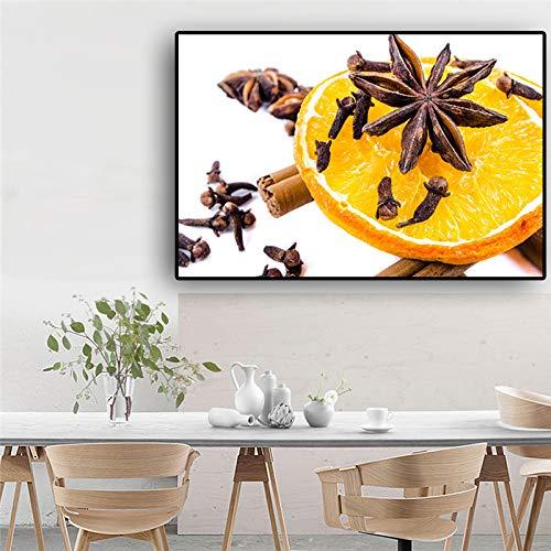 Obst Zitrone Kochen Plakate und Drucke Leinwand Malerei Kunst Wandbild für Wohnzimmer Küche dekorativ ohne Rahmen