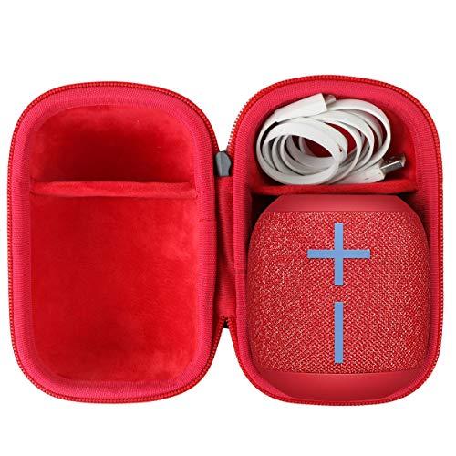 co2CREA Dur Étui de Voyage Rigide Housse Cas pour Ultimate Ears Wonderboom 1/2 Enceintes sans Fil Bluetooth Portables(boîte Seule) (Noir/Rouge)