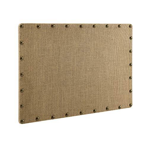 Linon Burlap, Medium Nailhead Corkboard