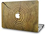 KECC Laptop Case for MacBook Pro 16' (2020/2019) Plastic Case Hard Shell Cover A2141 Touch Bar (Cracked Wood)