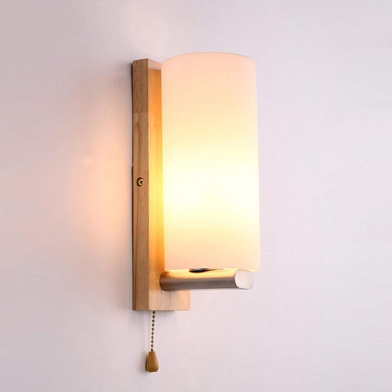 Xiao Fan  Innenbeleuchtung Moderne hlzerne Art-Schlafzimmer-Wohnzimmer-Wand-Wandleuchte-E27 hlzerne Wand-Beleuchtungs-Wand-Scheinwerfer-Kabel-Schalter High-11.02in lang 3.93in 110V-240V