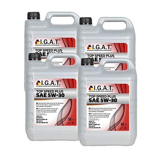 MotorölTop Speed Plus (Longlife) 5W-30 [4x 5 L] Igat SET20238-0050-IA20L Öl Schmierung