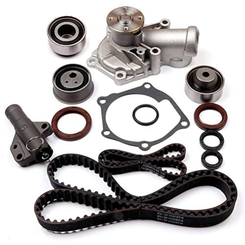 ANGLEWIDE TCKWP332 Timing Belt Water Pump Kits Replacement for 2006-2009 Mitsubishi Eclipse 2004-2006 Mitsubishi Galant 2004-2006 Mitsubishi Lancer 2004-2006 Mitsubishi Outlander