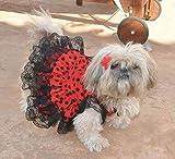 Folk Artesanía Vestido para Mascotas Flamenca o andaluza Lunares. Ideal para tu Perro. Fabricado en...