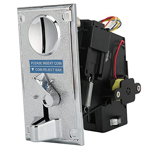 PUSOKEI Aceptador selector de Monedas, selector de Monedas CPU Anti-Jamming, selector electrónico validador de Monedas para máquina expendedora Arcade