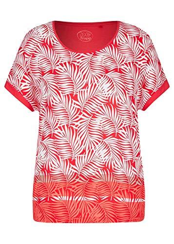 Frapp Damen Trendige Bluse mit gemusterter Vorderseite
