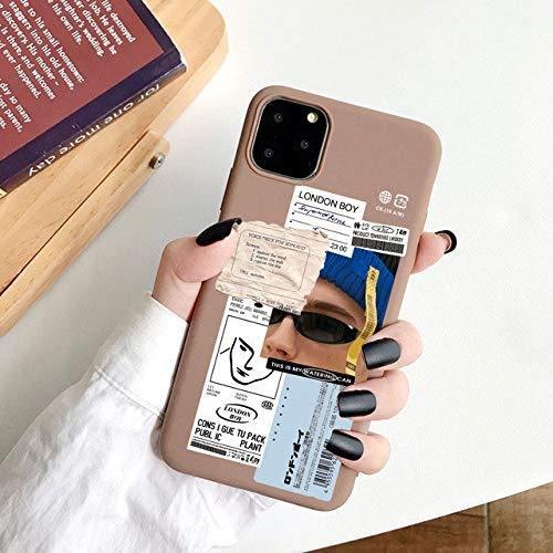 WGOUT para iPhone 11 Pro MAX Funda Mona Lisa Suave TPU Funda de teléfono para iPhone 12 Mini SE 2020 6s 7 8 Plus XR XS, 12, para iPhone 6 6s