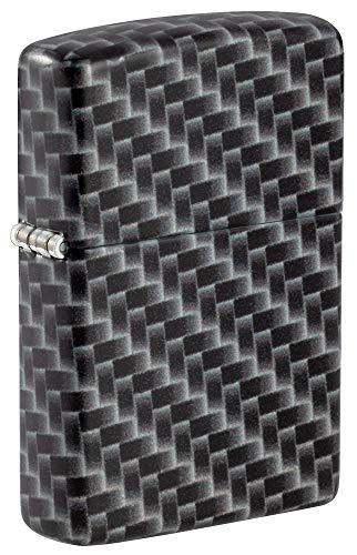 Zippo Carbon Fiber Color Pocket Lighter Feuerzeug, 540 Farben Kohlefaser-Design, Einheitsgröße