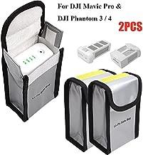 Fireproof Bag LiPo Battery Bag for DJI Mavic Pro DJI Phantom 3 Phantom 4, Battery Safe Storage Bag LiPo Guard Pouch, 2 PCs (150 x 90 x 55 mm)