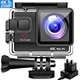 Victure Actioncam 4K WiFi Waterproof 40M Underwater Camera 20MP Ultra Full HD Action Camera