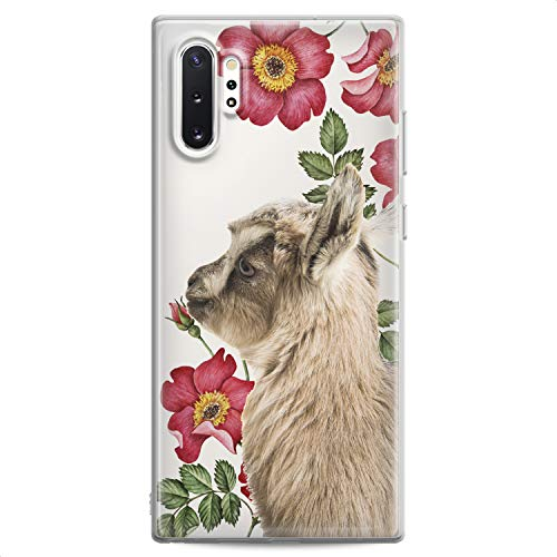 Cavka TPU Case Replacement for Samsung S21 Ultra S20 Plus S10 Lite Note 20 5G S10e S9 Cute Clear Floral Phone Soft Print Baby Animals Teen Cute Girl Goat Flexible Silicone Slim fit Pet Kawaii Design
