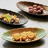 KANJJ-YU Creative Stoneware - Juego de cuencos de cerámica para aperitivos, platos de sushi, estilo japonés, platos de restaurante y postre