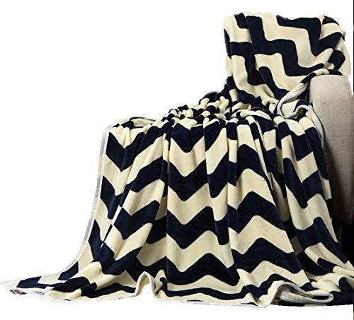 WYZXR Mantas grandes para sofás y hogares, mantas gruesas para siesta, aire acondicionado, toallas, mantas de terciopelo coral, 100 veces; 140 cm