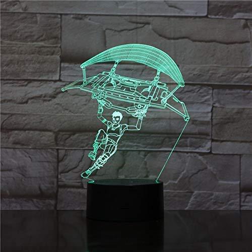 Usb 3D Led Nachtlicht Touch Sensor Nachtlicht Atmosphäre Schreibtisch Tischlampe Nacht Dekorative Lichter Fußball Team Messi Abbildung
