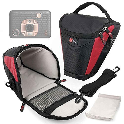 DURAGADGET Funda Negra Y Roja Compatible con Cámara Fujifilm Instax Mini LiPlay, Hasselblad X1D II 50C, Olympus Tough TG-6 - Acolchada En Su Interior