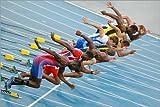 Poster 30 x 20 cm: Sprinter verlassen ihre Blöcke von Ria