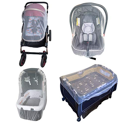 Enovoe Mosquito Net for Stroller - Durable Baby Stroller Mosquito Net - Perfect Bug Net for Strollers, Bassinets, Cradles, Playards, Pack N Plays and Portable Mini Crib