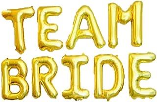 Team Bride Foil Letter Balloons 3D Banner Engagement Party Photo Prop Banner Bachelorette Parties Decorations (Gold) (Gold)