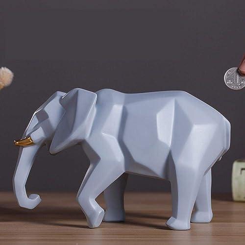Tirelire Créatif,OrneHommests Mode Tirelire Géométrique éléphant