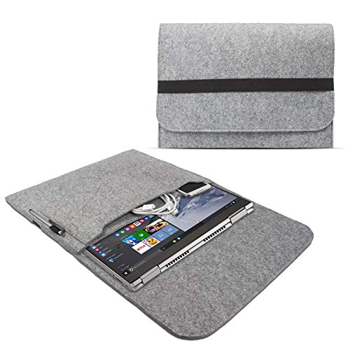 eFabrik Funda de fieltro para Lenovo Yoga 730 (13 pulgadas) / Yoga 720 (13,3 pulgadas) / Yoga 710 (14 pulgadas), color gris