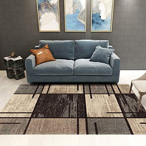 JLDNC In- & Outdoor Teppich, Moderner Kurzflor Teppich mit geometrischen auch als Wohnzimmerteppich und Kinderzimmer geeignet,E_1.6x2.3m/4.8x6.9ft