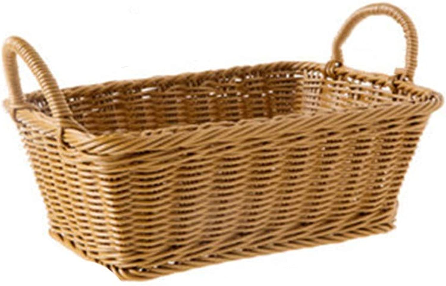 ZHANGQIANG Storage Basket Laundry Basket Rattan Laundry Hamper Basket Ideal Gift (color   Wood color, Size   Small)