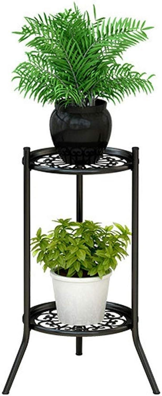 MBD 2 Tiered Decorative Rustproof Metal Flowerpot Holder Rack Display for Outdoor and Indoor 49.5  28.5  28.5cm