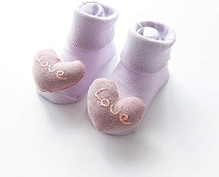 TZOU Newborn Babies Relent Full Cotton Cartoon Imitation Shoes Stereo Children Baby Socks Love M Recommend 6-18 Months