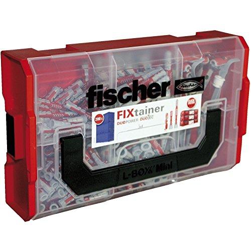 FISCHER Fixtainer - Duopower/Duotec Sortiment | Dübel Ø 6 mm und 8 mm | 200 Stück im Koffer
