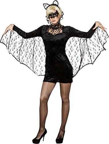 Fasching Halloween Damen Fledermauskleid (42/44)