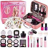 Satkago Maletin Maquillaje Niñas,Simulador de Maquillaje,Maquillaje para Niñas Regalo Cumpleaños,Navidad,Juguetes Niña 3 4 5 6 7 años