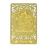 Feng Shui Bodhisattva for Rabbit (Manjushri) Printed Golden Card W4125